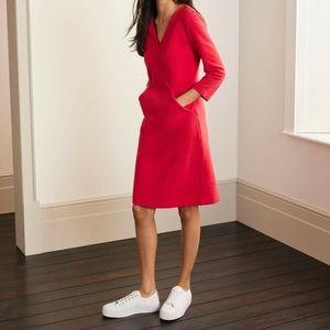 Boden Bronte Ottoman Red MIDI Dress